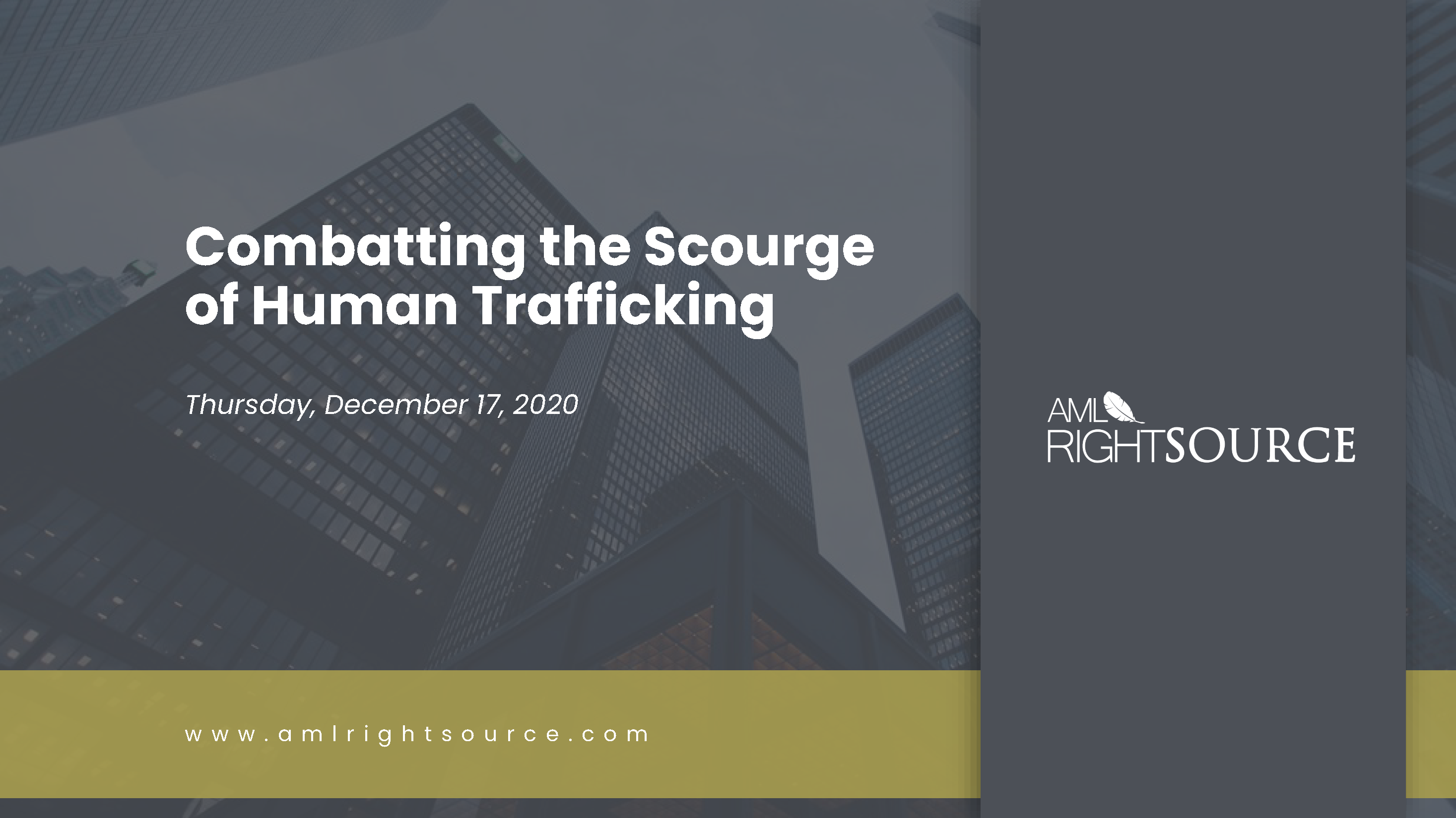 The Scourge of Human Trafficking Dec 2020 Supplemental Deck